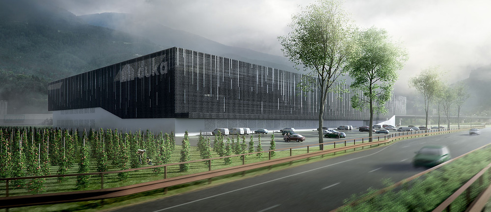 Duka Gebäude in der Industriezone Brixen