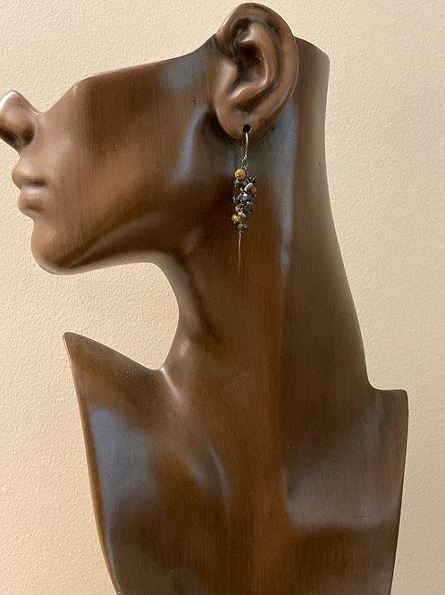 Ethiopian Opal Drop Earring on Chain Wire