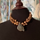 Thumbnail: Copper Baroque Pearls on Knotted Leather Necklace