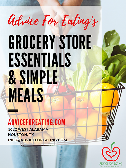 AFE Grocery Store Essentials and Simple Meals