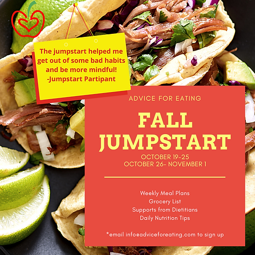 Advice for Eating Fall Jumpstart Week1