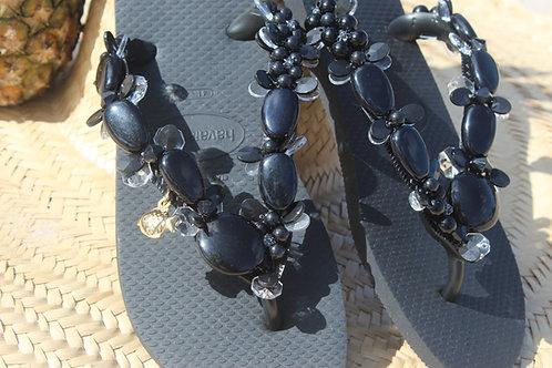 zwarte flip flops