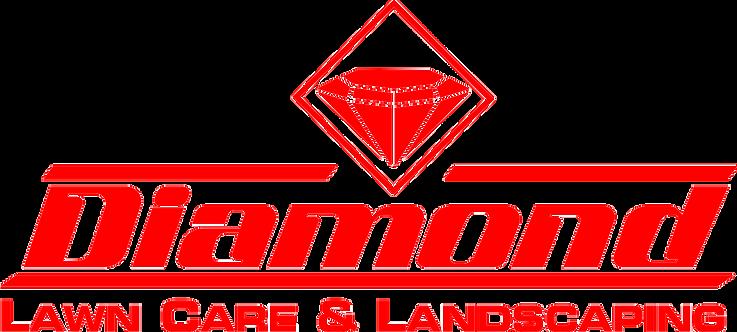 diamond lawn care red-white logo