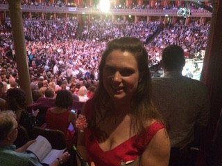 My view from the the BBC box at the Royal Albert Hall