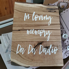 A beautiful sign in honor of da da dadio