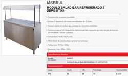 SALAD BAR REFRIGERADO 5 DEPOSITOS