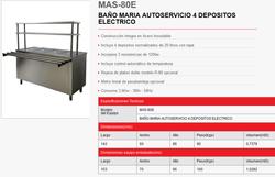 BAÑO MARIA AUTOSERVICIO 4 DEPOSITOS