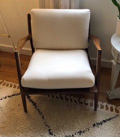 Reupholstered back and seat cushions