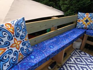 Outdoor bench cushion