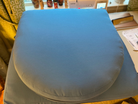 Blue Sunbrella fabric