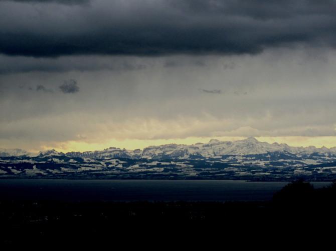 Die Alpen á la Caspar David Friedrich!