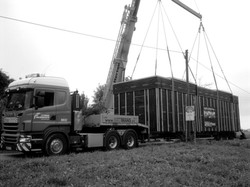 Transport der Wohnbox