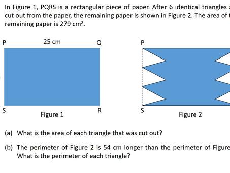 2020 PSLE Mathematics 5-Mark Mensuration Question