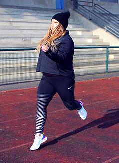 Lalaa Misaki - Nike react running shoes