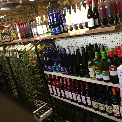 Wine Selection at Even in the End Liqours