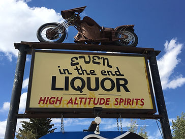 Even in the End Liquor Sign