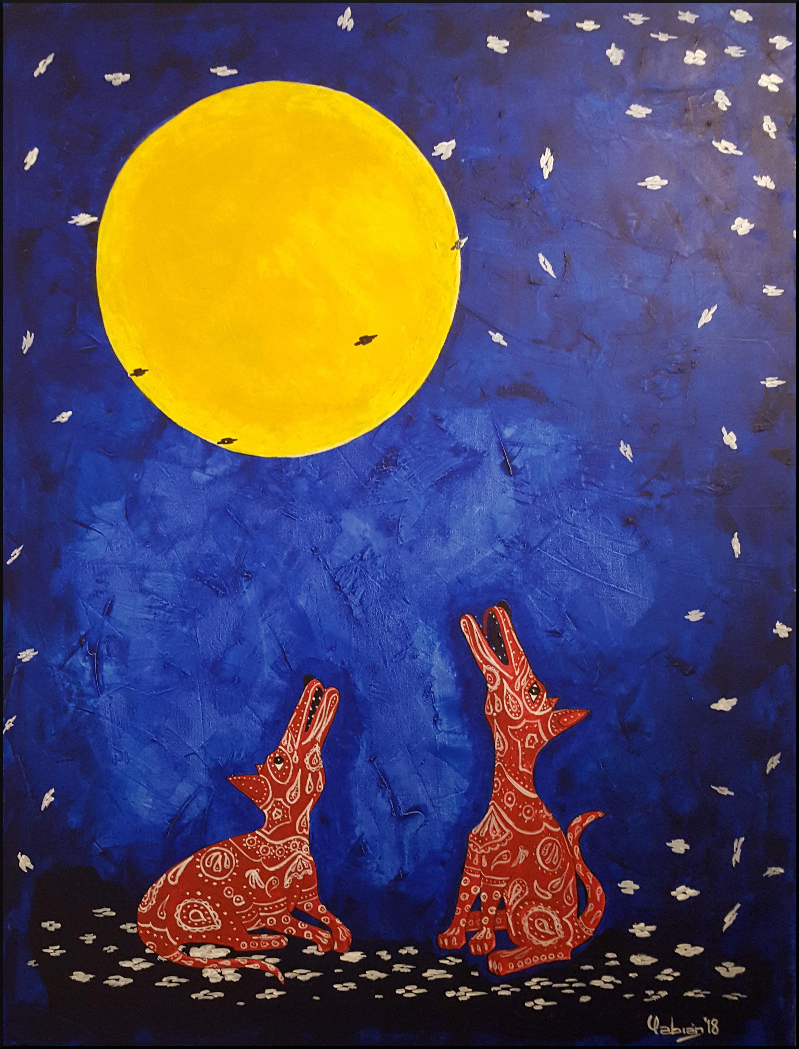 """""""Los coyotes y la luna"""""""