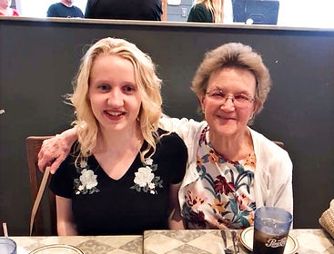 The founder of Faithful Friends, Kristen, with her grandmother