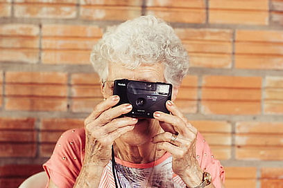 Picture of grandmother taking a photo