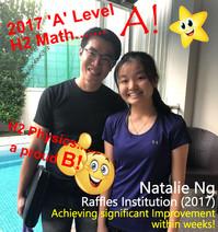 Natalie Ng -Raffles Institution- Maths (A) Physics (B)