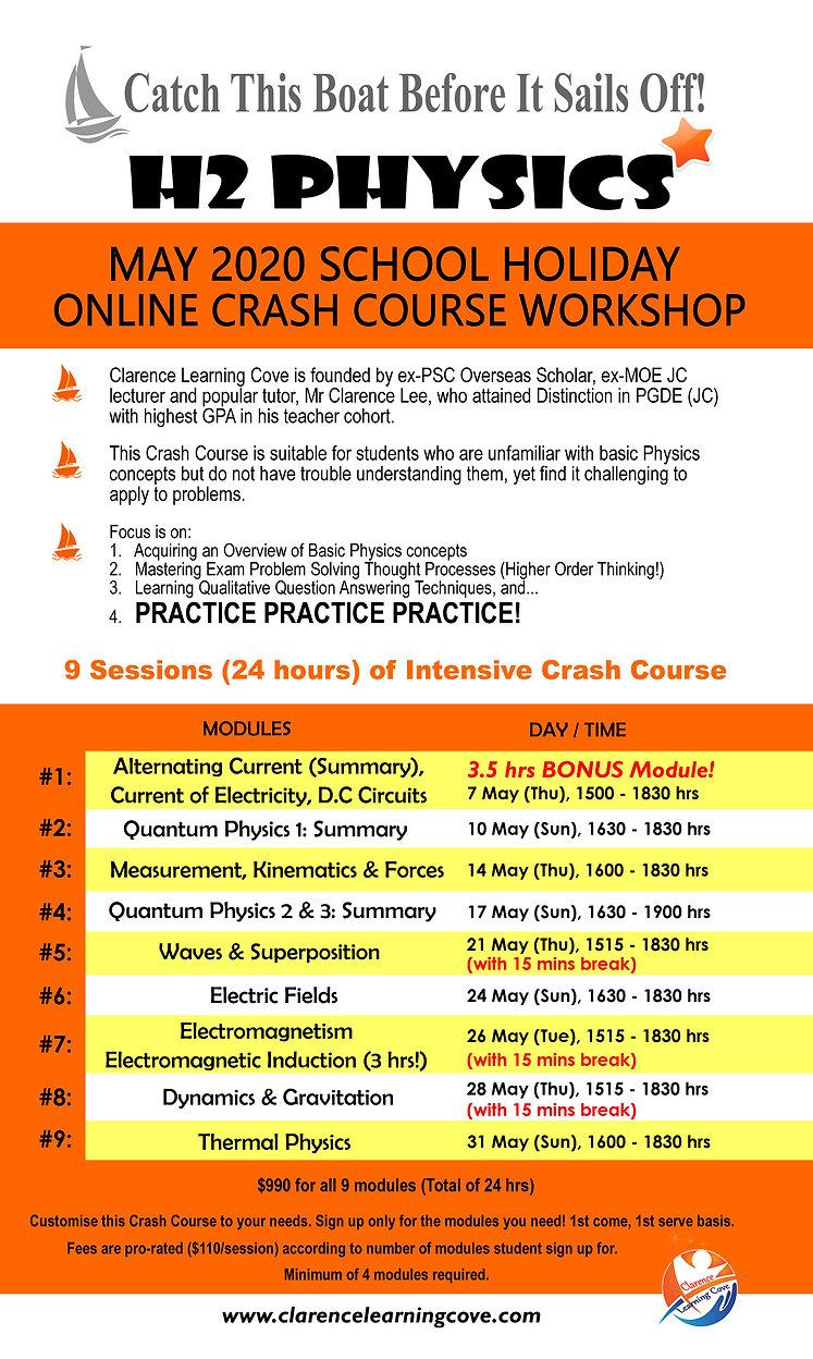 J2 H2 Physics Online Revision Workshop 2
