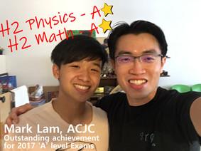 Mark Lam -ACJC- Math (A) Physics (A)