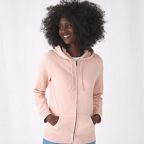 B&C Organic Zipped Hood / women