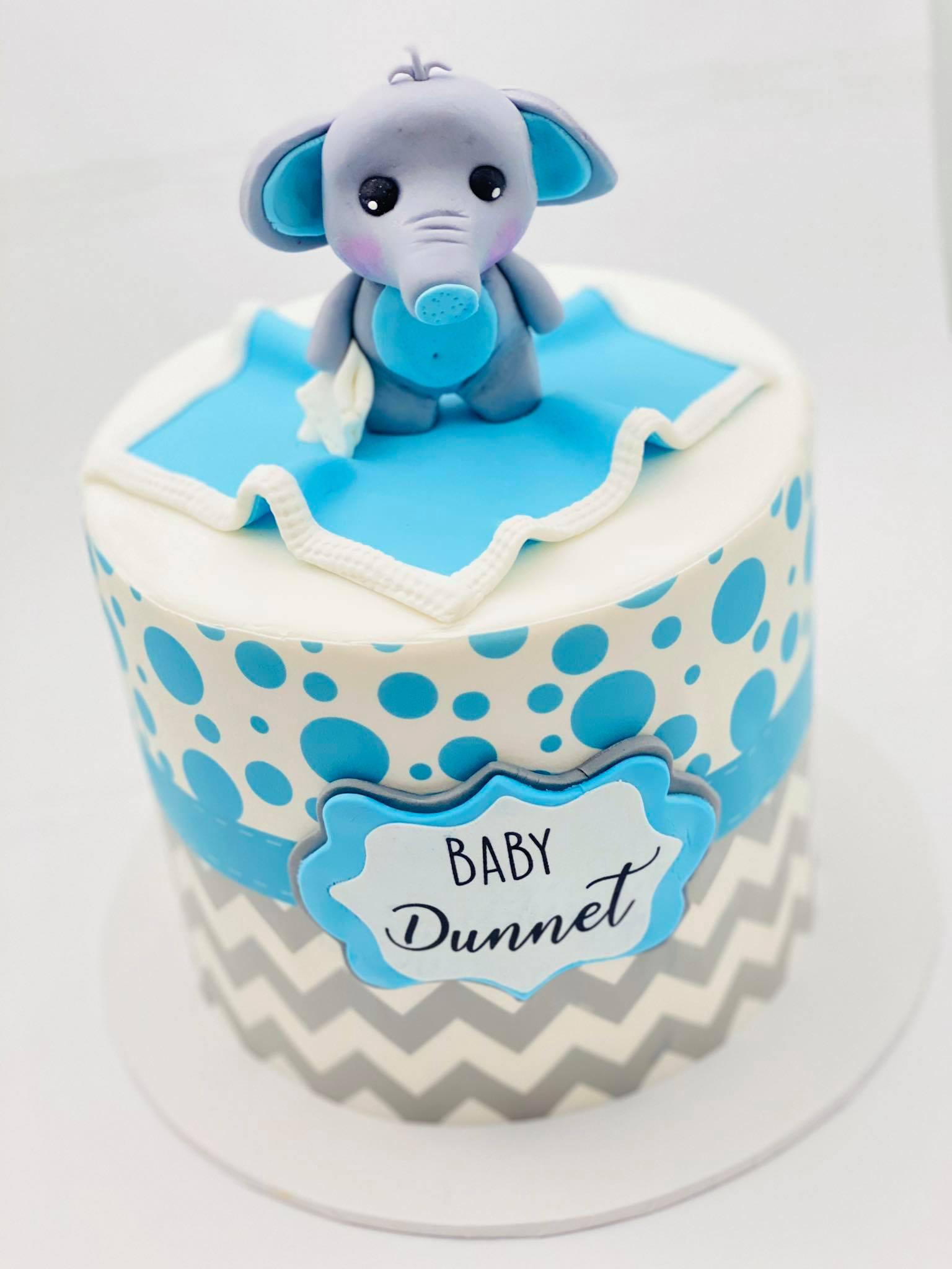 baby shower cake elephant
