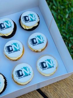 DNHQ Logo Cupcakes
