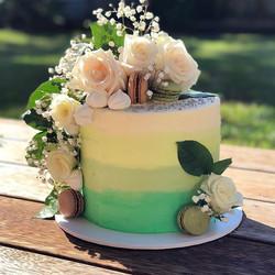 Beautiful in green! Green ombré buttercr