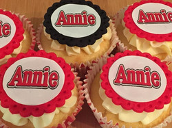 Cupcakes made for the Annie musical.
