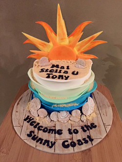Welcome celebration cake