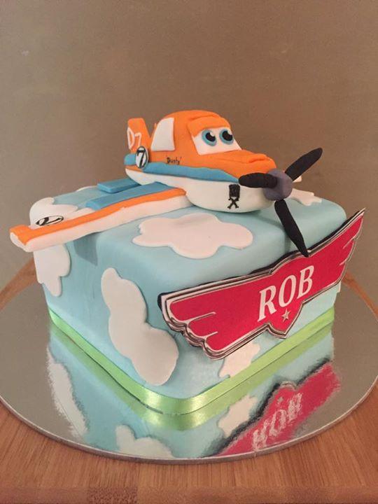 Rob's birthday cake- Dusty (Milo Flavor)