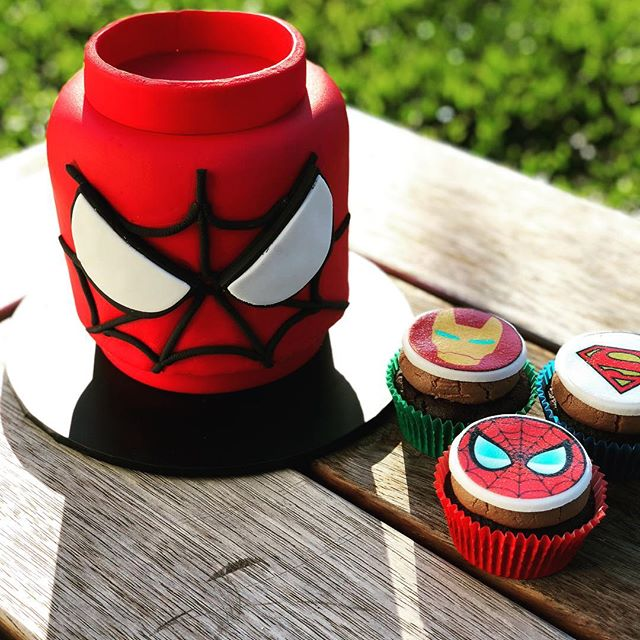Even superhero's need birthday cake