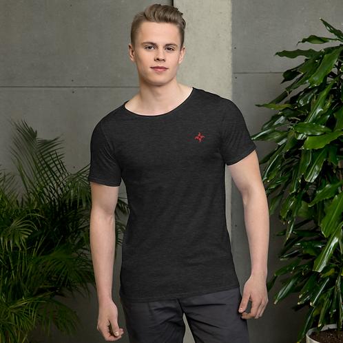 Uomo T-Shirt mit offenem Hals-Ausschnitt