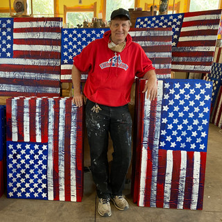 'Sean' Painting Flags for FRW