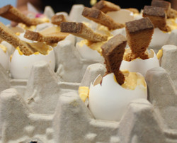 Deviled Egg and Rye Toast Spoon