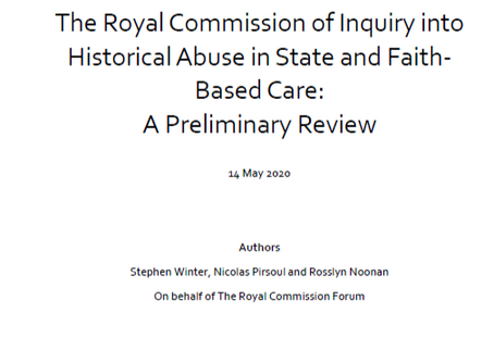 New report on the Royal Commission