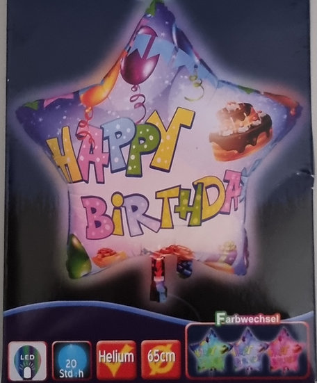 """LED Ballon """"Happy Birthday"""""""