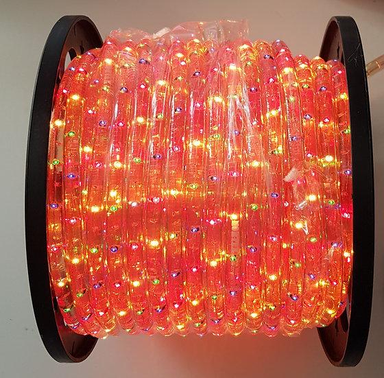 Lichtschlauch auf Rolle mittel, Multicolor