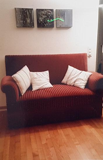 Sofa antik mit 3 Stühlen