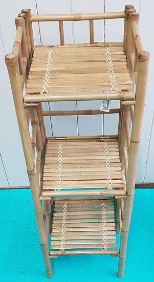 Bambusregal Schmal 140 cm hoch
