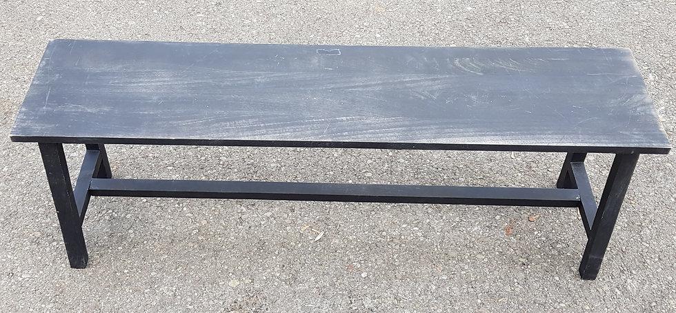 Holzbank grau, Ausstellungsstück