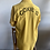 Thumbnail: 1950's Yellow COXIE'S Chainstitch Rayon Swingster Bowling Shirt M