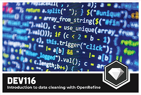 DEV 116: Introduction to data cleaning with OpenRefine