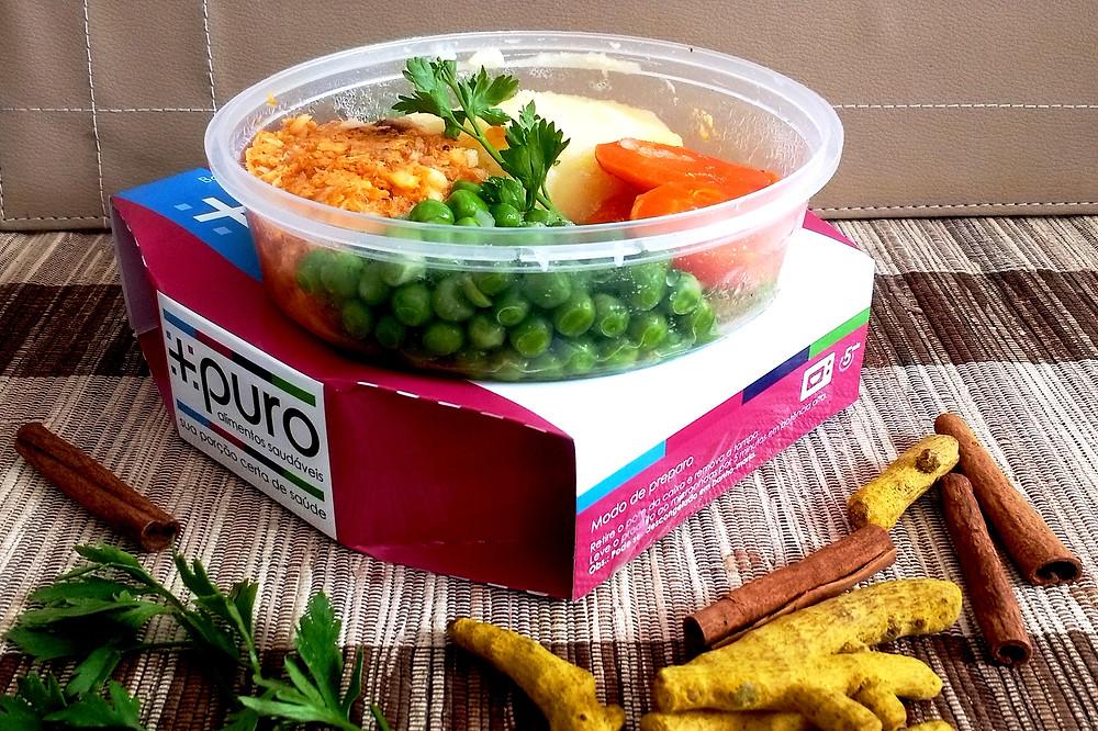 Peixe+Pure de Mandioca+Cenoura e ervilha