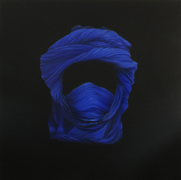 Eliane_Zinner,_Kopftuch_Tuareg,_Öl_auf_L