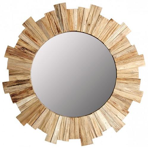 Miroir Rond Bois - Déco