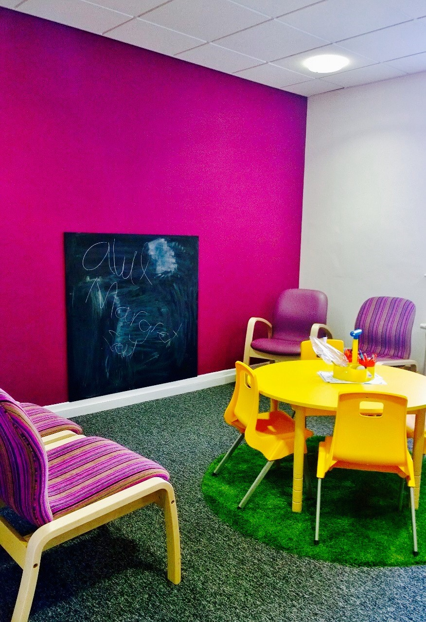 Young children's waiting area