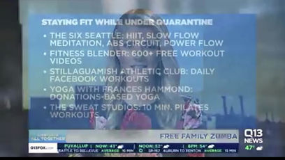 Q13 News recommends our OnDemand workouts!